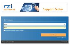 Anmeldung im Support-Center